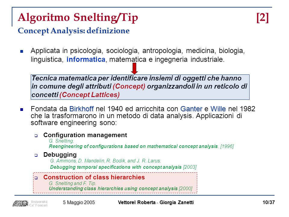 Algoritmo Snelting/Tip [2]